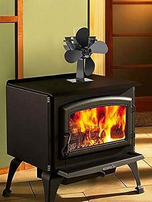 mysticall Ventilador para estufa de leña de 4 palas para horno de ...
