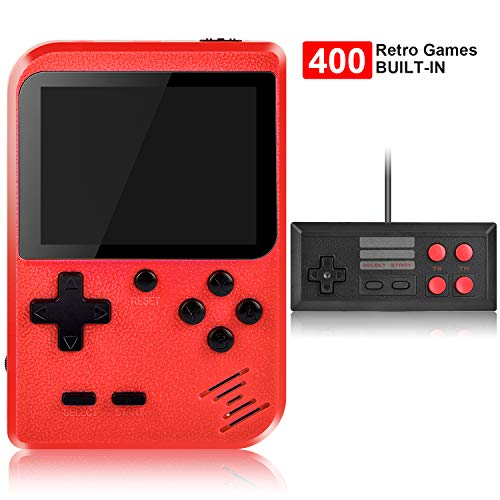 Handheld Game Console, Kiztoys Retro Game Console with 400 Classic Handheld Games, Supporting 2 Players & TV Connection…