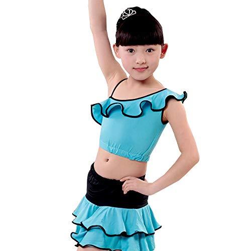 Ballo Oblique Esterno Esposizione Xfentech Blu Vestito Ballo Latino Di Ragazza Adatta Dei Da Della Pannello Corsa Bambini Di Spalle Dei Bambini wFSqYqx5