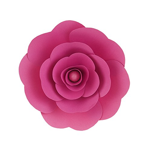Mega Crafts 12 Inch Handmade Paper Flower in Fuchsia, Home Décor, Wedding Bouquets & Receptions, Event Flower Planning, Table Centerpieces, Picture & Backdrop Wall Decoration, Garlands & Parties