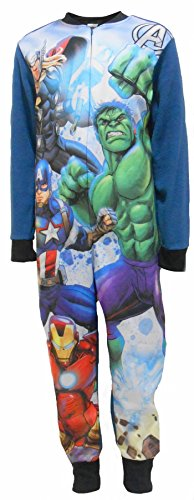 Marvel Avengers Superheroes Boys Fleece One Piece Sleepsuit 4-5 Years ()