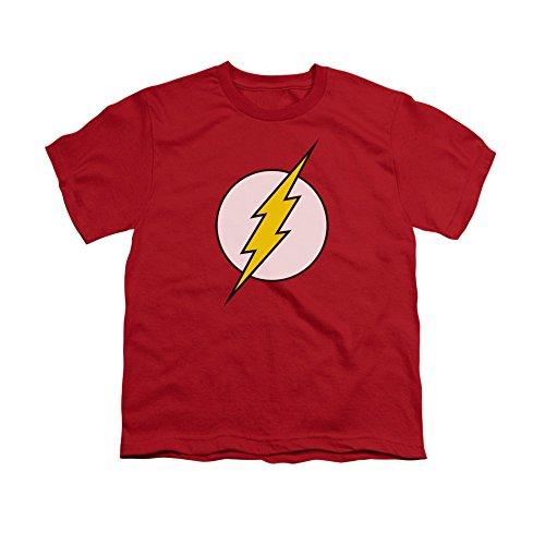 DC Comics Flash Logo Kids T-Shirt Medium Red