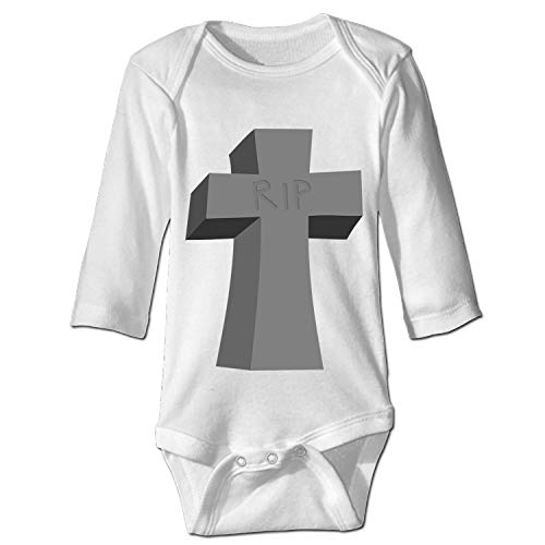 Tombstone Grave Halloween Custom Funny Novelty Baby Cotton Bodysuits One-Piece