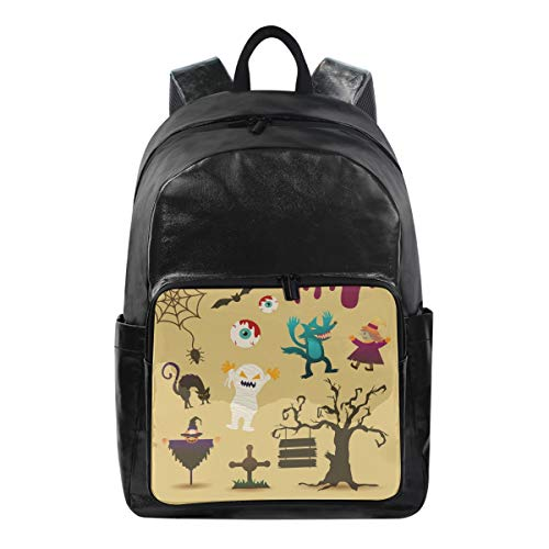 ANINILY Halloween Cartoon Character Travel and Leisure Backpack, Business Anti Theft Ultra-Thin And Durable Laptop Backpack For Men And women -