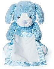 GUND Peek-a-Boo pluche dier puppy, blauw