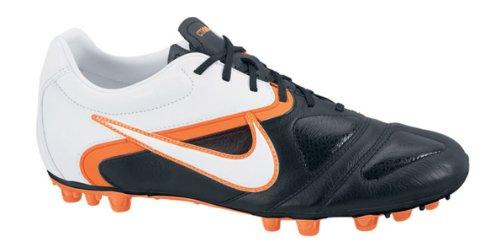 Nike - 429536 - Ctr360 Libretto Iii Ag - Bota De Fútbol - Hombre - Color : Blanco/Negro/Naranja - Talla Uk : 7