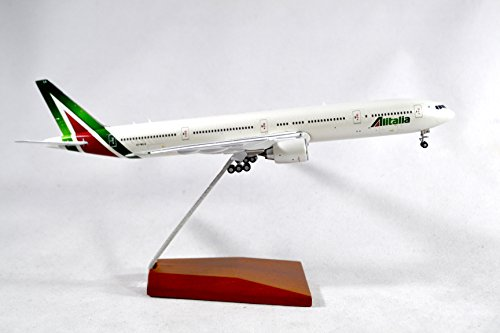 GeminiJets Alitalia Boeing 777-300ER Diecast Airplane Model EI-WLA With Stand 1:400 Scale Part# GJAZA1673