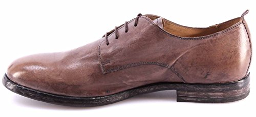 Chaussures Homme MOMA 52501-5C Pellame Taupe Business Vintage Luxe Italy Nouveau