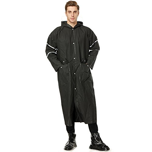 Black Long Raincoat - 3
