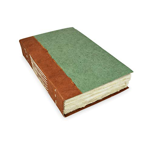 Nepali Wayfinder Journal with Extra-Thick Handmade Lokta Paper, 6x9 inch Writing Journal. Made in Nepal.