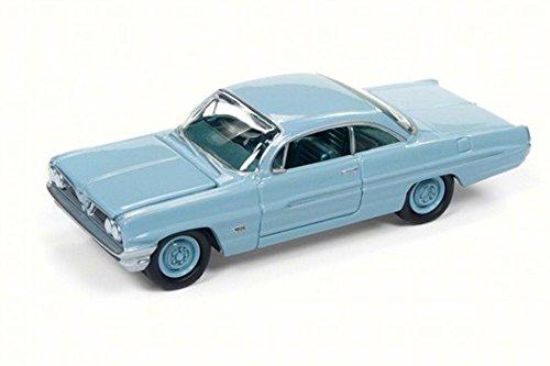 Catalina Pontiac - Round 2 1961 Pontiac Catalina, Tradewind Blue JLSP008/24B - 1/64 Scale Diecast Model Toy Car