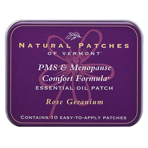 Natural Patches Of Vermont Rose Geranium PMS & Menopause Essential Oil Body Patches, 10-Count Tins ()