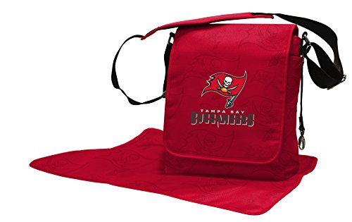 Wild Sports NFL Tampa Bay Buccaneers Messenger Diaper Bag, 13.25 x 12.25 x 5.75-Inch, Red by Wild Sports
