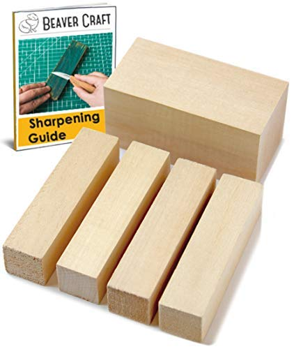 BeaverCraft Basswood Wood Carving Blocks Set BW1 1pcs - 4