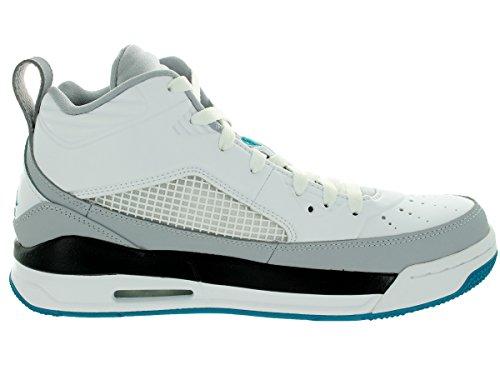 Air Jordan Flight Mens Hi Top pallacanestro formatori 654262 scarpe da tennis White/Trpcl Teal/Wlf Gry/Blk