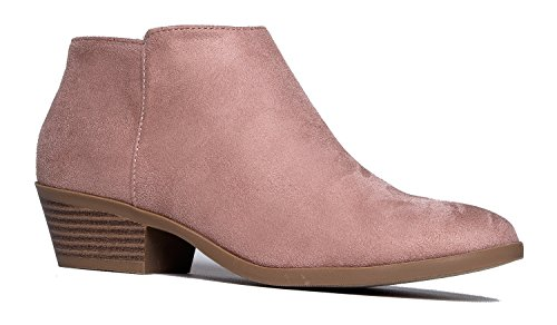 Low Ankle Stacked Mauve Toe Closed Bootie Casual Heel Boot Adams J Lexy Western wxIUnRqaXA