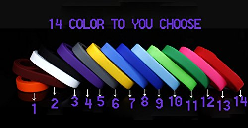 - RIYIN Custom Silicone Wristband, 100pcs-Pack (100pcs Wristbands Need be Same)