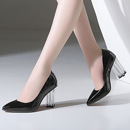 Women'S Shoes Black Heel High Heels heels Tips Jqdyl Crystal wagEqHxnv