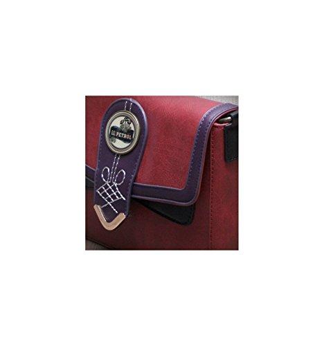Violet Travers et Petrol EMILIE BLACK Sac CH34 Simili Lili Noir Porté Rouge cuir F0q1t
