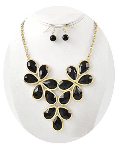 Black Necklace Set Gold Statement Necklace Set Fashion Jewelry (#47)