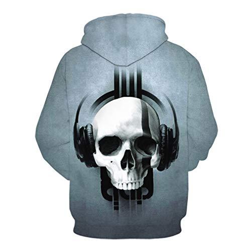 Uomo Fantasma Halloween Hooded Lunga Cappuccio Juleya 3d Stampato Con Gotico Cranio Osso Pullover Autunno Digitale Felpe Arte Terrore C5 Hoodies Sweatshirt Manica dq6PH