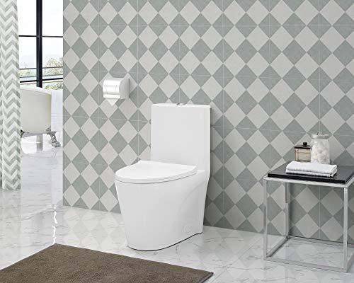 Swiss Madison Well Made Forever SM-1T254 St. Tropez One Piece Toilet, 26.6 x 15 x 31 inches, Glossy White