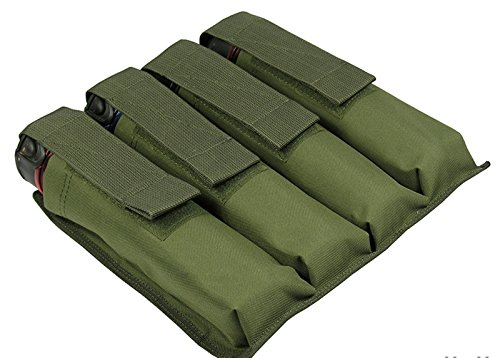 Harness Tubes 4 Paintball (M.O.L.L.E POUCH ON THE WAIST UNDER THE FOUR TUBES AT 140-160 BALLS paintball (Olive))