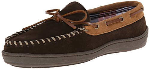 Clarks Men's Moccasin Slipper - Brown Cowsuede - 8 D(M) US