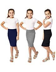 KIDPIK Capri Leggings for Girls - Your Choice of 6 Great Colors: Purple, Fuchsia, Red, White, Green, Navy Blue
