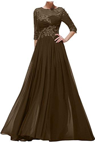Promkleid Linie Abendkleider Mit Damen Schokolade Brautmutterkleider Ivydressing Festkleid Aermeln Spitze A wZRqx4An