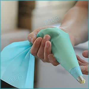"""13"""" Reusable Silicone Cake Piping Bag Icing Cream Pastry Decorating Sugarcraft"""