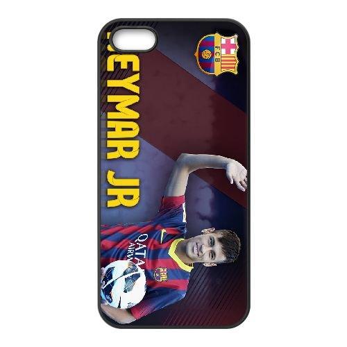 Neymar 004 coque iPhone 4 4S Housse téléphone Noir de couverture de cas coque EOKXLKNBC20691