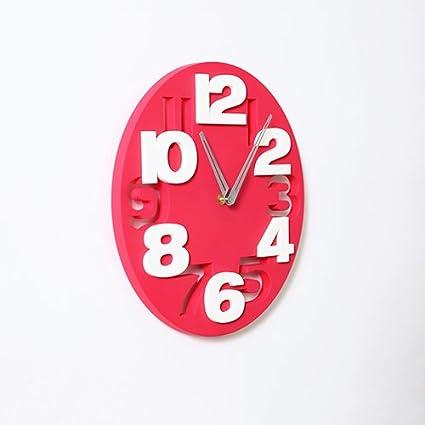 Vinteen Maestro Educación Infantil Reloj de Cuarzo Hueco Personalidad Reloj Reloj de Pared Reloj de la