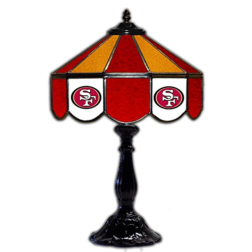 (San Francisco 49ers 21 Glass Table Lamp)