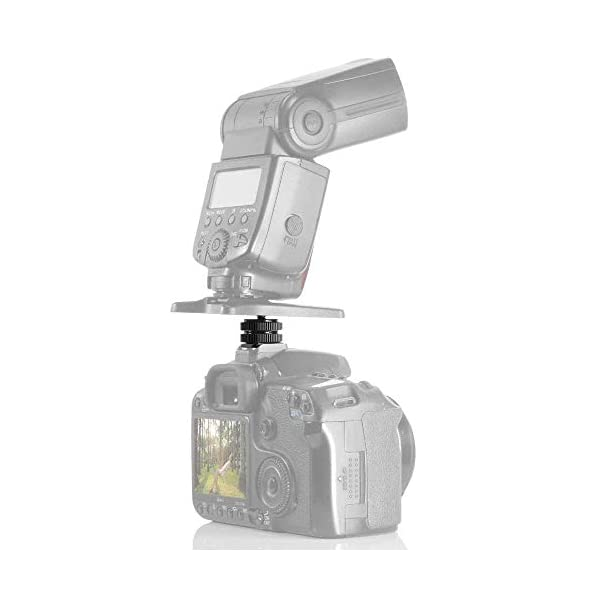 "Digicare Camera Shoe Pro 1/4"" Mount Adapter for Tripod Screw to led Light Hotshoe"