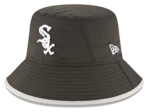 New Era Authentic MLB 2019 Clubhouse Collection Bucket Hat Stretch Fit : One Size Fit Most (Chicago White ()