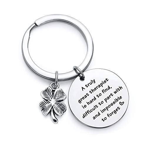 therapist thank you gift Farewell keychain for coworker moving away gift Retirement Jewelry Mentor gift Colleague Gift coworker jewelry coworker Appreciation gift for Occupational Therapist keychain (The Best Farewell Speech)