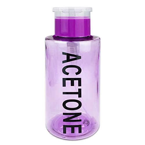 [해외]PANA Brand 10oz. (Quantity: 1 Pieces) Acetone Labeled Liquid Push Down Pump Dispenser Bottle (Purple) / PANA Brand 10oz. (Quantity: 1 Pieces) Acetone Labeled Liquid Push Down Pump Dispenser Bottle (Purple)