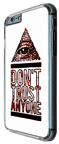 708 - Don't Trust Anyone Pyramid Eye Design iphone 6 6S 4.7'' Coque Fashion Trend Case Coque Protection Cover plastique et métal
