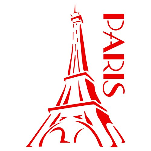 Eiffel Tower Scrapbooking - Paris Stencil - 4.5 x 6.5 inch (S) - Reusable Eiffel Tower French Decor Stencils for Painting - Use on Paper Projects Walls Floors Fabric Furniture Glass Wood etc.