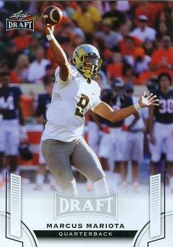 Marcus Mariota football card (Tennessee Titans, Oregon Ducks) 2015 Leaf Draft #80 Rookie