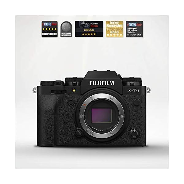 "RetinaPix Fujifilm X-T4 26 MP Mirrorless Camera Body (APS-C X-Trans CMOS 4 Sensor, EVF, Face/Eye AF, 5-Axis IBIS, 3"" Vari-Angle Touchscreen, 4K/60P & FHD/240P Video,Film Simulation, Weather Resistance)- Black"