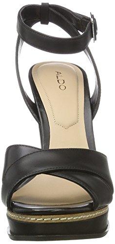 Aldo Black Donna Nero Zeppa Sandali con 97 Leather Norell pfrPpq6RU