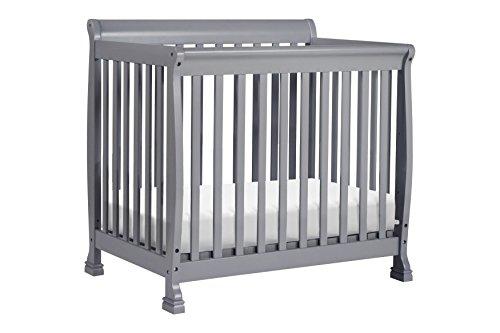 Convertible Stages 1 4in Crib (DaVinci Kalani 2-in-1 Mini Crib and Twin Bed, Grey)