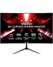 $129 » VIOTEK NBV24CB2 24-Inch Curved Monitor, 75 Hz Full-HD Frameless Monitor for Home, Office & Gaming   VGA, HDMI, 3.5mm   Adaptive Sync w/Superior Dead Pixel Policy + 3Yr Performance Promise