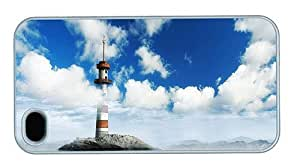 Hipster cool iPhone 4 case A Lighthouse PC White for Apple iPhone 4/4S