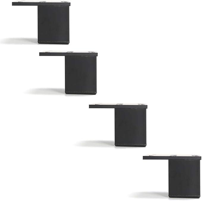 3cm 4 Piezas Pies para Muebles Aleaci/ÓN Aluminio,Metal Patas para Sofas,Patas Cama Cocina Bano de Mesa Mesas de Caf/É Sofa Armarios,con Tornillo
