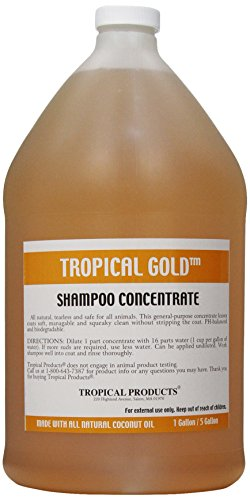 (Tropical Gold Dog and Cat Shampoo, 1-Gallon)