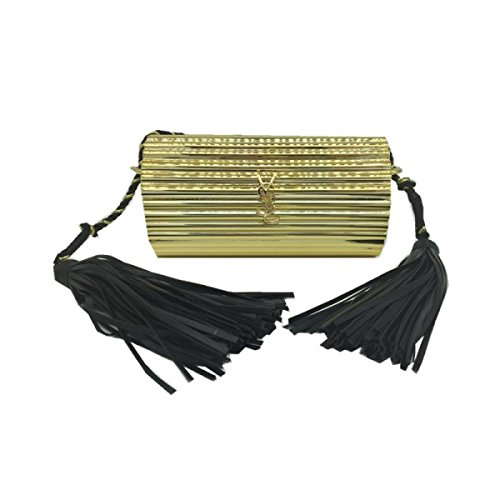 FZHLY Paquete De Cena De Borla Acrílica Creative Evening Bag,GoldA GoldB