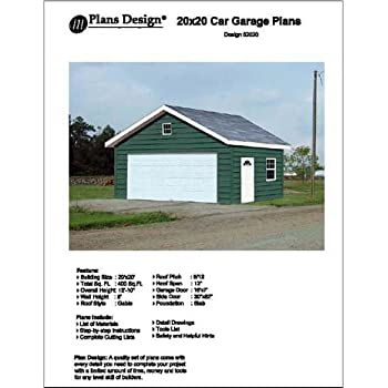 16 39 X 20 39 Car Garage Workshop Project Plans Design 51620